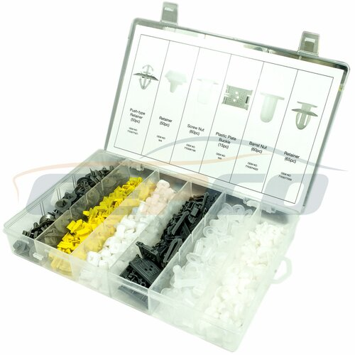 Trim Clip Assortment-Renault 300pc /TÜRVERKLEIDUNG CLIPS...