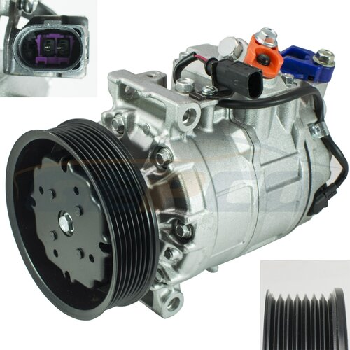 Air Compressor Air-conditioning Compressor AC A/C AUDI Q7...