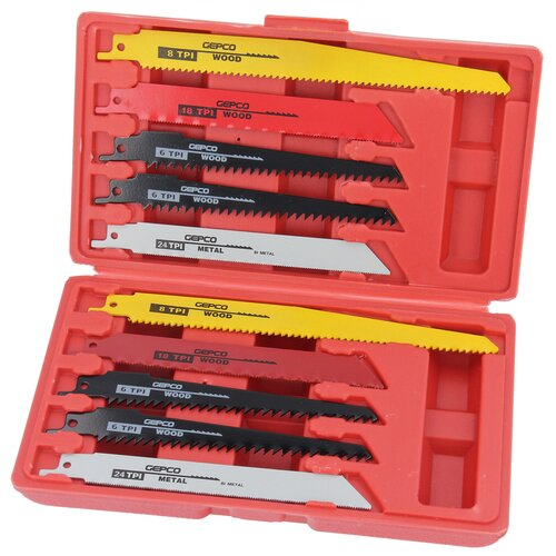 10x Jigsaw Blades T-Shank Set for Metal and Wood Saw...