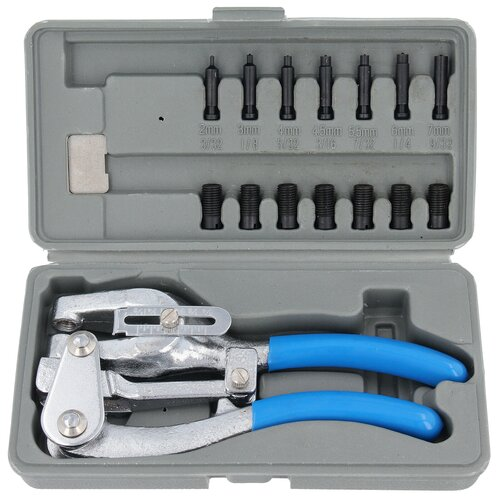 16 pc Set Sheet Metal Hole Punch Tongs JOGGLING Tool...