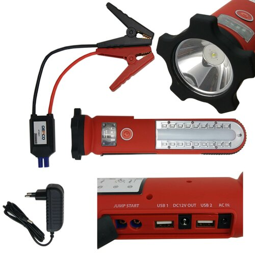 Battery Work Light Led Lamp Workshop & Starter Jump...