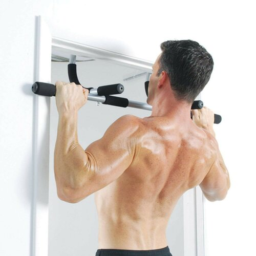 GEPCO Indoor Pull Up Bar Fitness Door Frame Wall Chin Up Bar Horizontal Bar