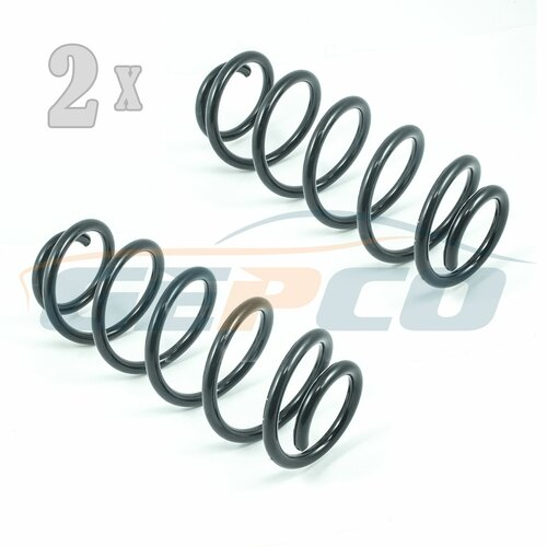 2x Coil Spring Front Axle fits Audi A4 B5 A6 Estate Skoda...